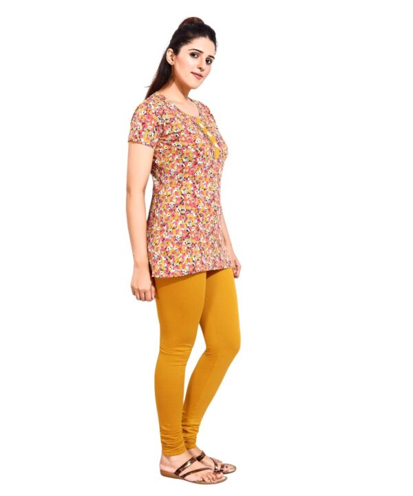 Womens Flower Masted Patti Top and Bottom