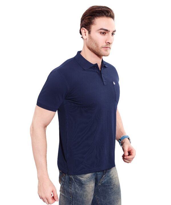 Mens Polo Solid Navy T-shirt