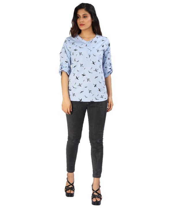 Women's Casual Stylish Printed Western Top